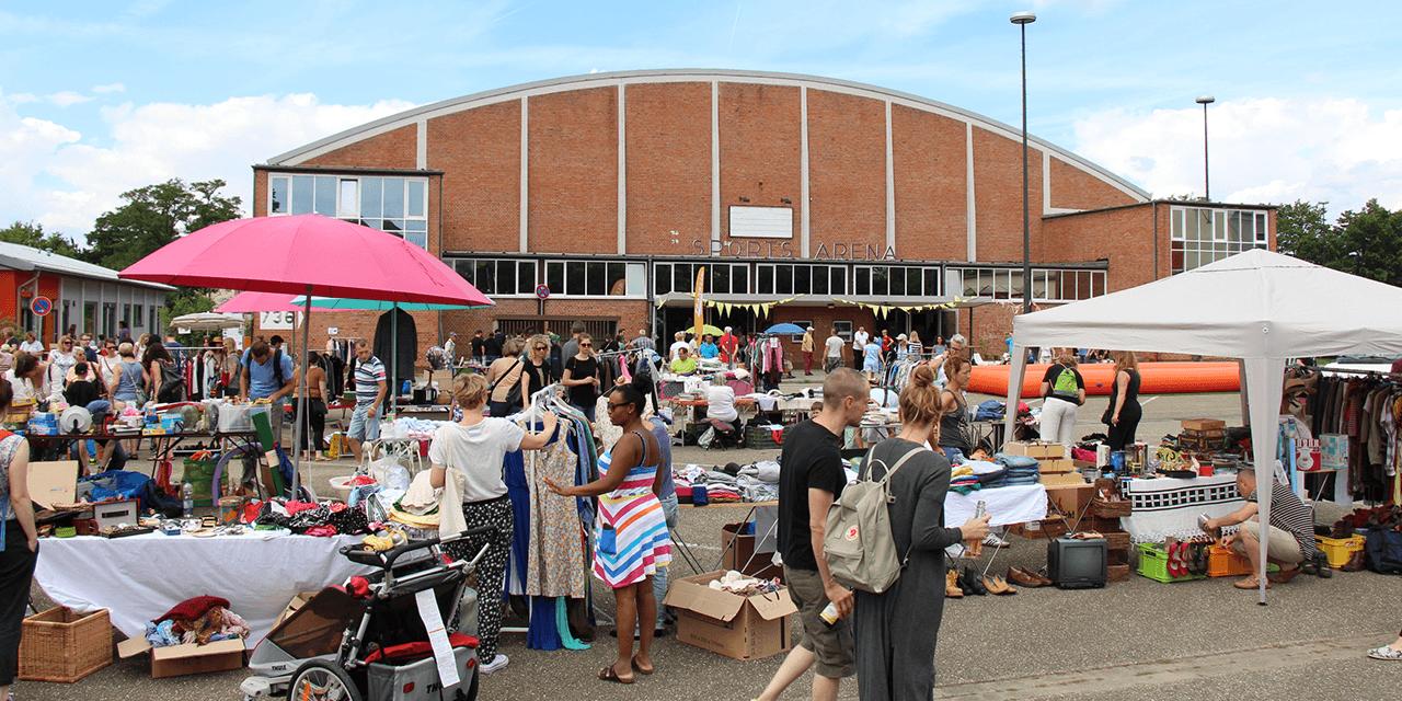 Familienflohmarkt auf dem FRANKLIN Field