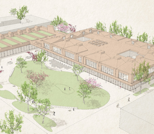 Visualisierung der neuen Grundschule