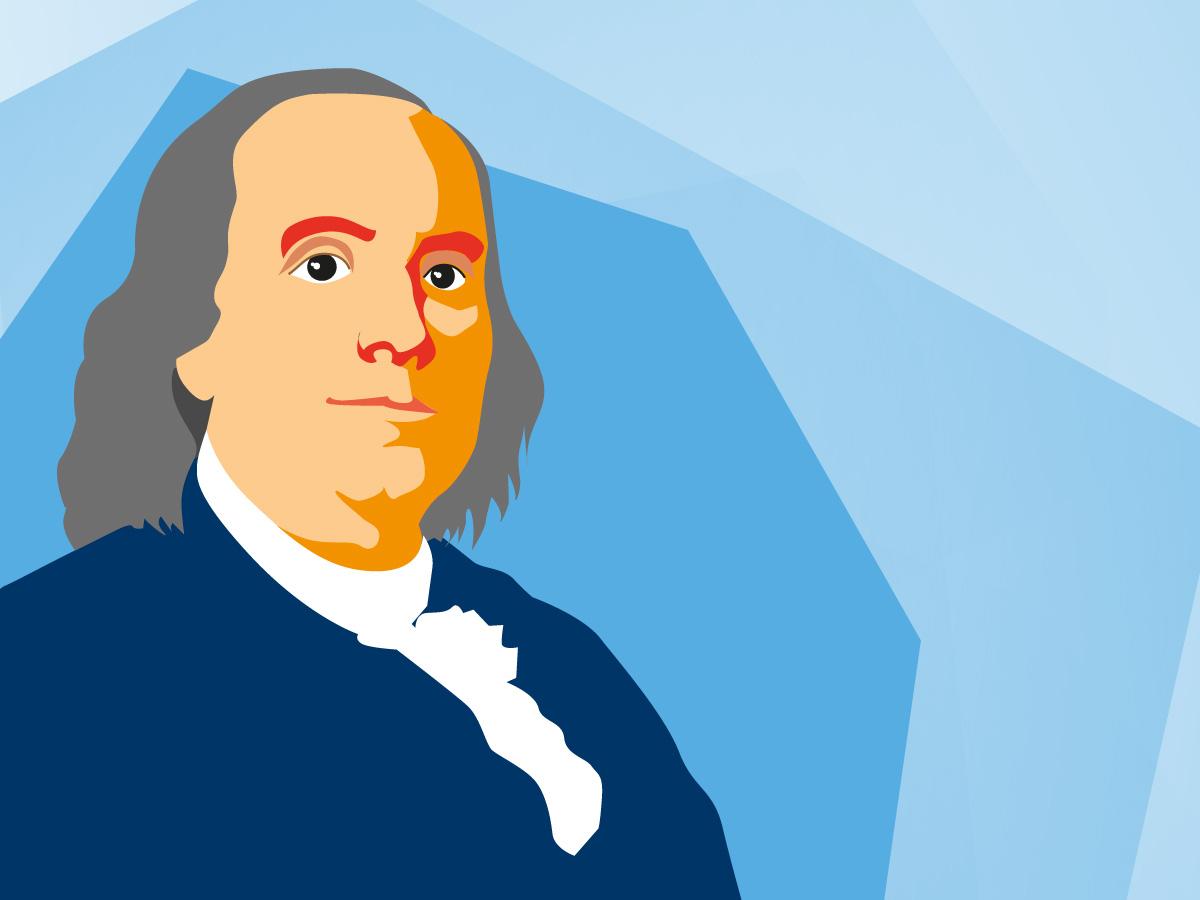 Benjamin Franklin, Gründervater der Vereinigten Staaten von Amerika – und Namensgeber des Franklin Quartiers in Mannheim.