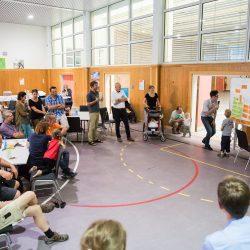 Auch die kleinen Besucher haben ihre Ideen eingebracht, Foto: Maria Schumann