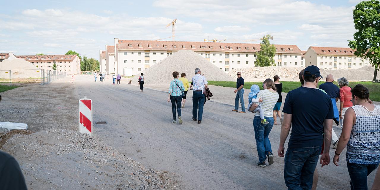 Bild: Baustellenführung in Franklin, dem neuen Mannheimer Stadtquartier. Die ersten Bewohner sind im Sommer 2017 eingezogen.