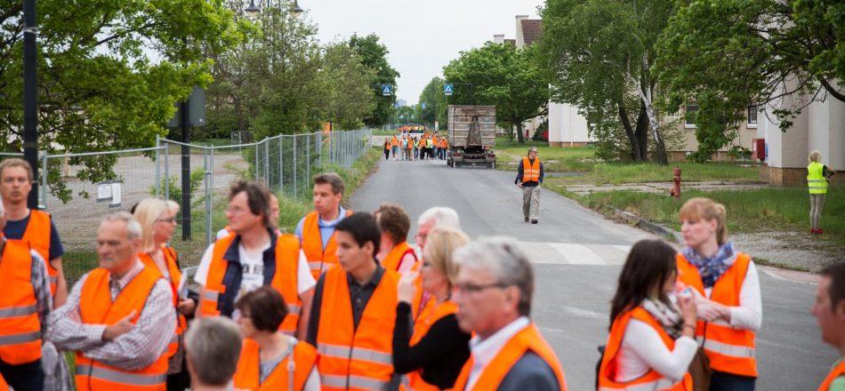 Baustellenbegehung, Foto: Andreas Henn