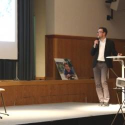 Michael Paak (MWSP) stellt die Grün- und Freiraumplanung vor.